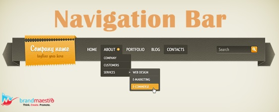 website navigation -brand maestro web design services