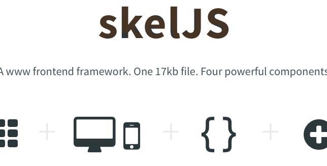 SkelJS- web development framwork