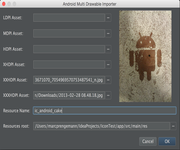 Android Drawable Importer